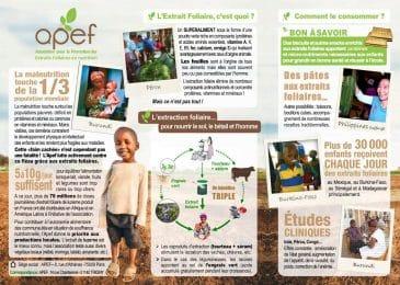 L'APEF a publié un document de présentation générale de ses activités